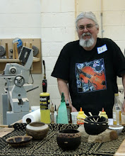 "Photo: Our demonstrator for the evening, our own Ed Karch, prepares to teach us about ""Earth, Bleach, and Fire"""