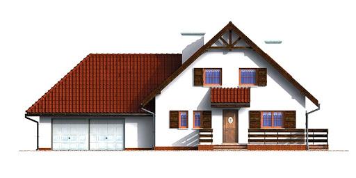 Dom przy Grabowej - Elewacja przednia
