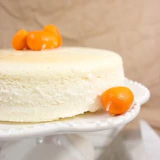Crustless Vanilla Bean Cheesecake