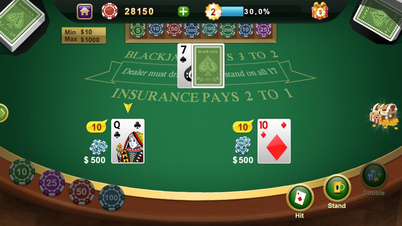 Blackjack app android free