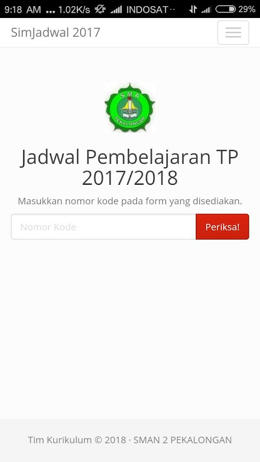 Screenshots of E- Kurikulum SMA Negeri 2 Pekalongan for iPhone
