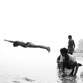 Airborne by Debdatta Chakraborty - News & Events World Events ( b&w, candid )