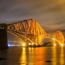 Forth Bridge by Jimmy White - Buildings & Architecture Bridges & Suspended Structures ( night, long exposure, bridge )