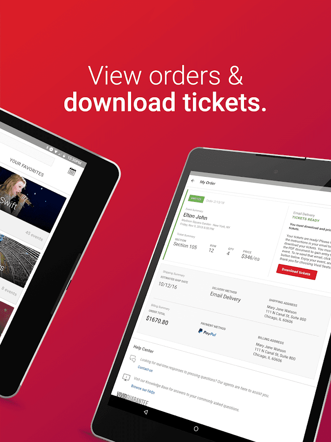 Vivid Seats – Event Tickets- screenshot