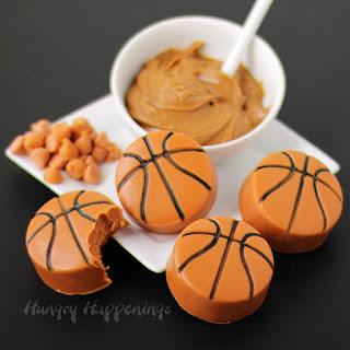 Biscoff Butterscotch Fudge Basketballs.