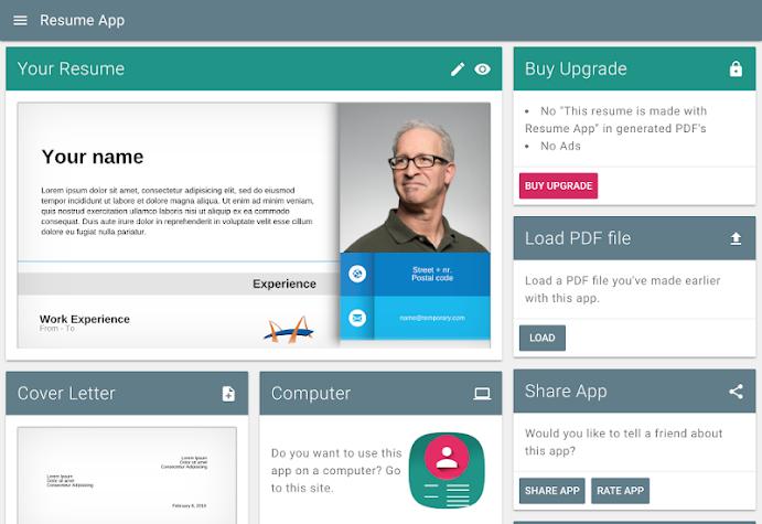 Resume App Screenshot