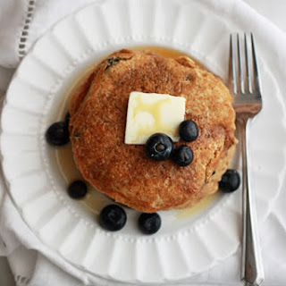 Maple Blueberry Cornmeal Pancakes