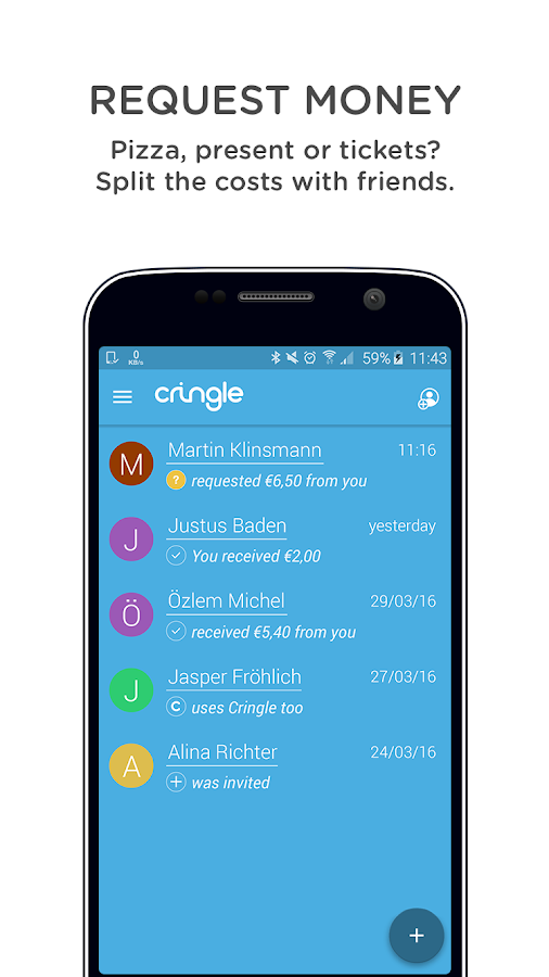 Cringle - send money for free- screenshot