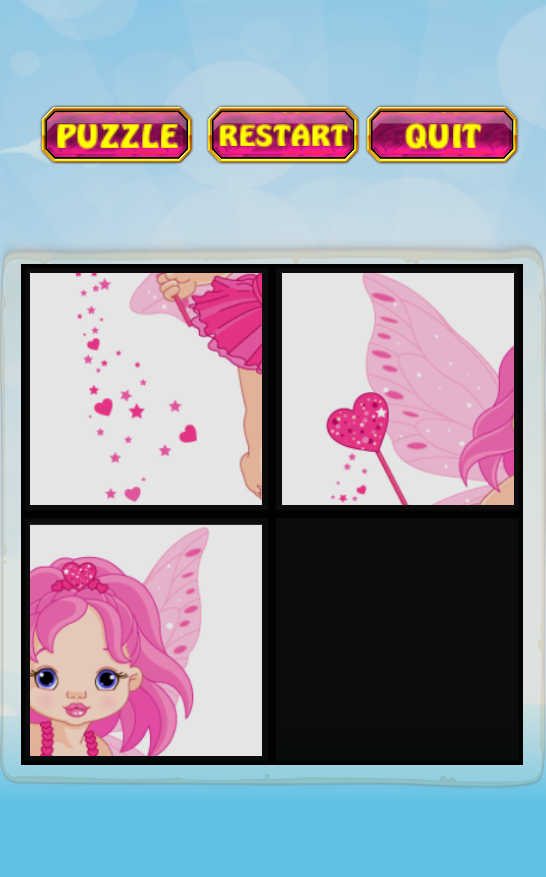 Kids Slide puzzle for girl- screenshot