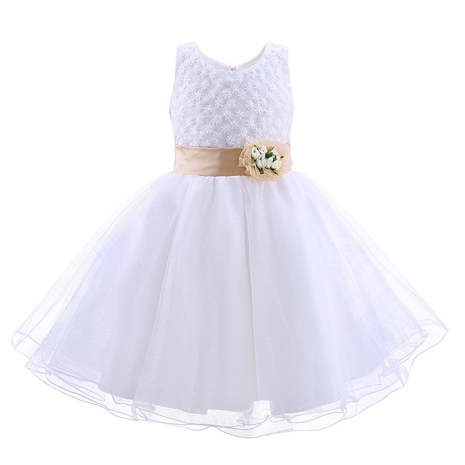 Sukienki dziewczęce białe