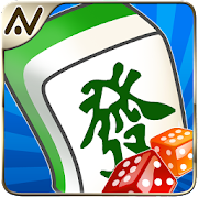 Playing mahjong coffee