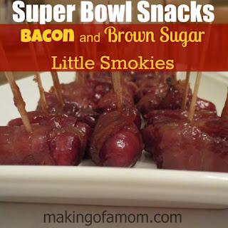 Super Bowl Snacks – Bacon and Brown Sugar Little Smokies.