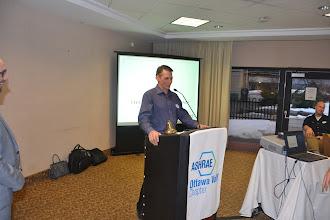 Photo: Bob Kilpatrick talking about nominations
