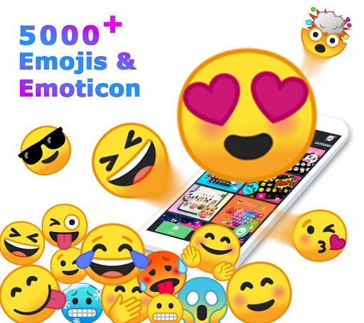 Screenshot for ❤️Emoji keyboard - Cute Emoticons, GIF, Stickers in United States Play Store