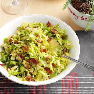 Brussels Sprouts with Bacon & Garlic.