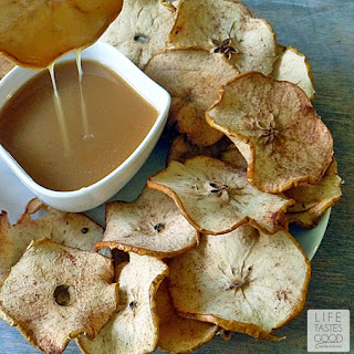 Apple Chips with Salted Caramel