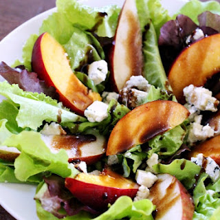 Pear & Nectarine Salad with Gorgonzola and Pear Balsamic Dressing