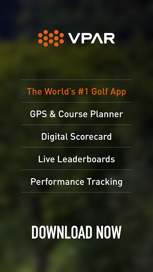 VPAR Golf GPS & Scorecard- screenshot