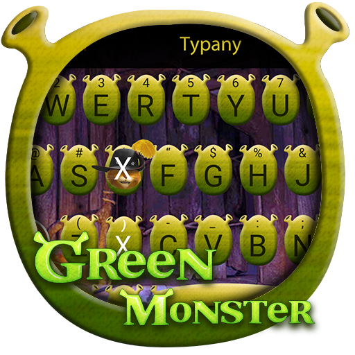 Green Monster Theme&Emoji Keyboard