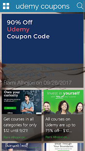 Udemy Coupons - náhled