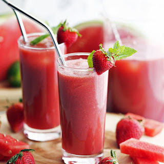 Fresh Watermelon Strawberry Soda.