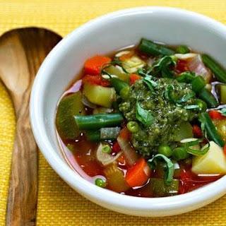 Soup au Pistou (French Peasant Vegetable Soup).