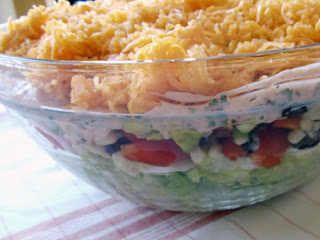 Kicked Up Layered Salad Recipe
