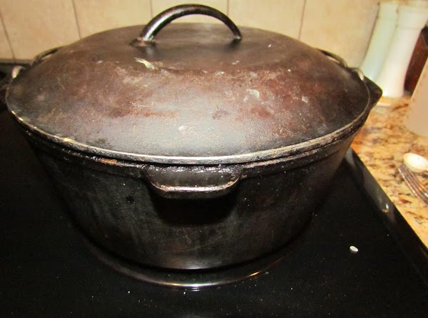 Stir well. Place lid on pot.
