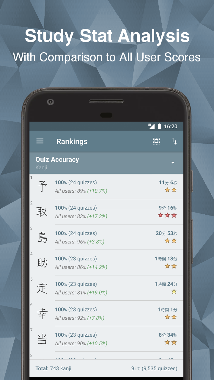 Japanese Kanji Study - 漢字学習 Screenshot 6