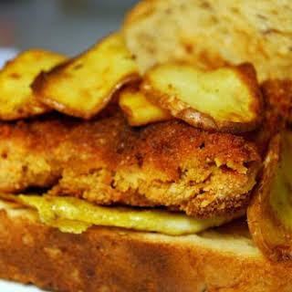Curried Tempeh Sandwich.