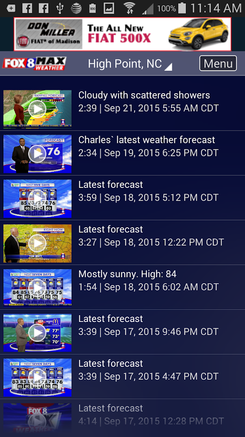 Fox8 Max Weather- screenshot