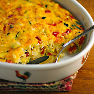 Zucchini, Egg And Goat Cheese Breakfast Casserole