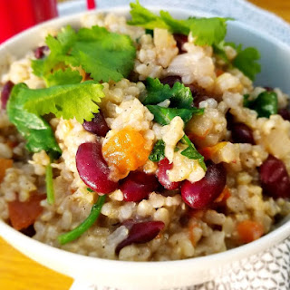 Slow Cooker Kidney Beans and Coconut Brown Rice.