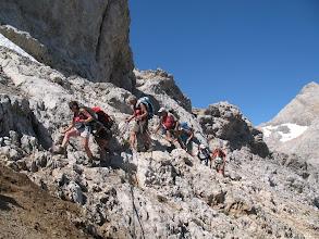 Photo: Traversée avant  la descente vers Jou de los Boches