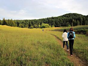 Photo: trekking around the lake