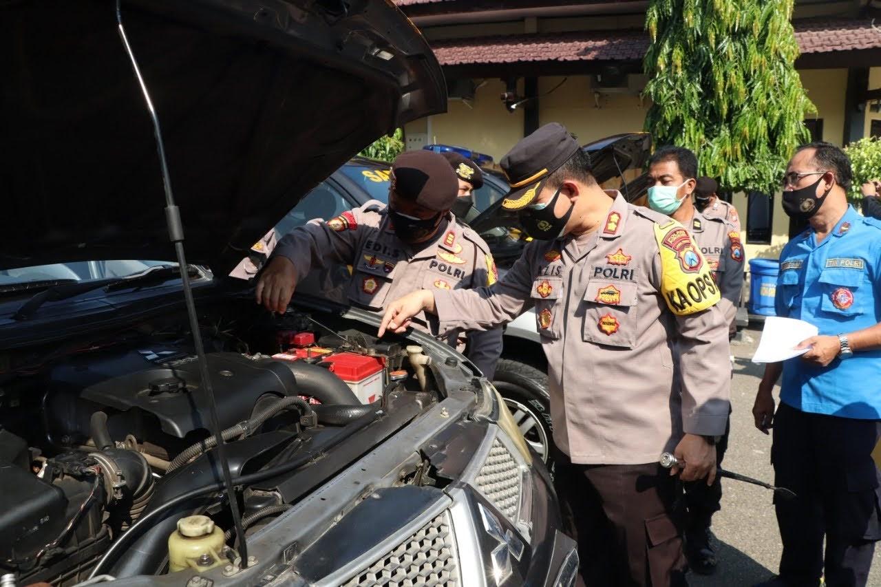 Polres Ponorogo Cek Kendaraan Dinas Yang Terpasang GPS
