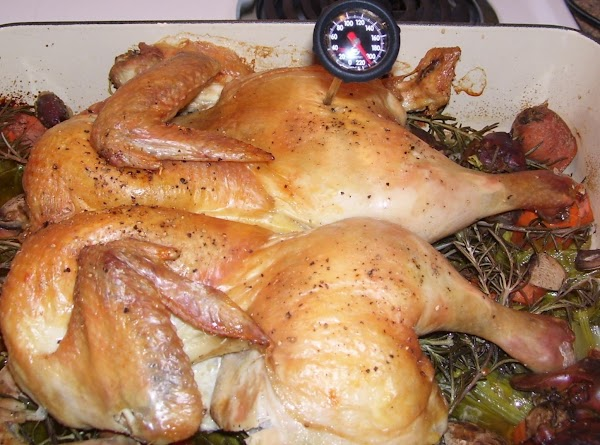 Check the internal temperature of the chicken with an instant-read thermometer.  The US...