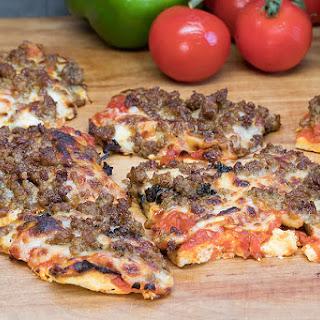Cheesy Cheese Pizza Crust Pizza.