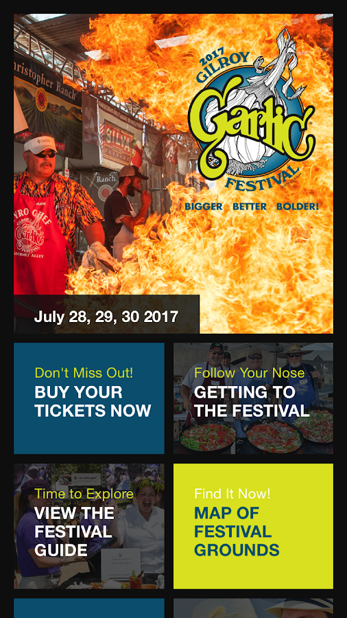 Gilroy Garlic Festival- screenshot