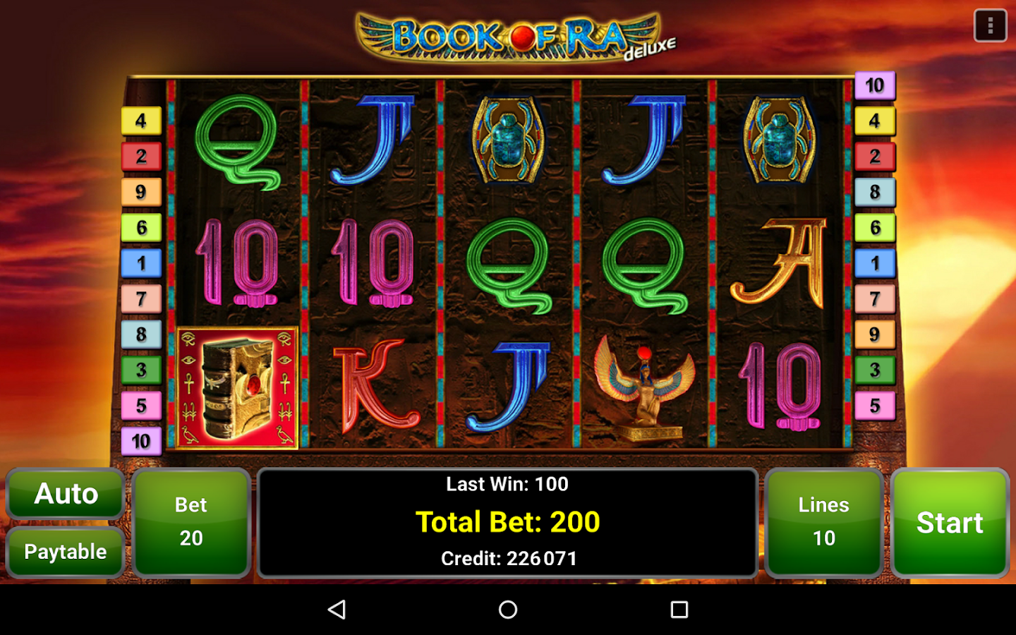 book of ra slot machine game