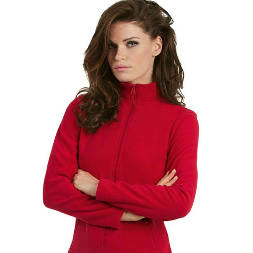 B&C Fleece Jacket Womens (Red)