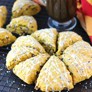 Pumpkin Oatmeal Chocolate Chip Scones