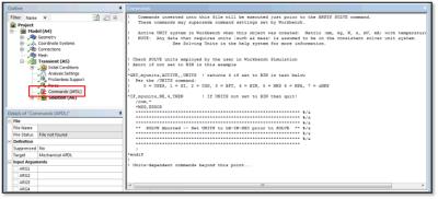 ANSYS Команды APDL, которые выявляют настройки единиц измерения в команде /UNITS. В рассмотренном случае единицы измерения не соответствуют ожидаемым