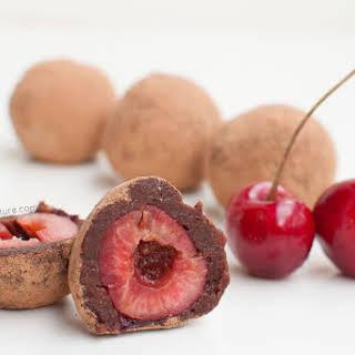 Raw Chocolate Cherry Truffles.