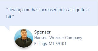 Testimonial Hansers Wrecker Company