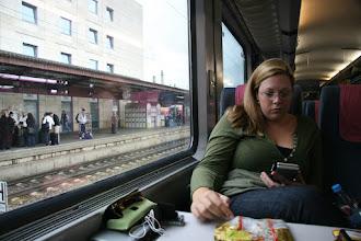 Photo: Reading on train