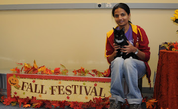 Photo: Radhika with foster cat Konnar