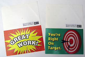 Photo: Two more greeting card styled correspondences. All created in Adobe Illustrator, in 1993.