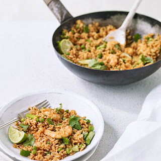 Red Curry Rice with Prawns Recipe