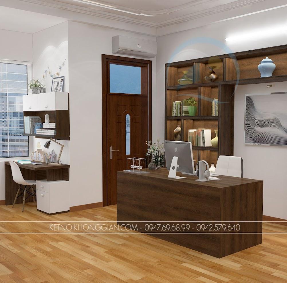 thiết kế phòng đọc sách kết hợp phòng làm việc và phòng học 4